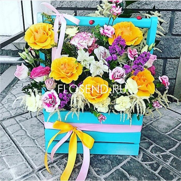 Цветы в коробке № 211