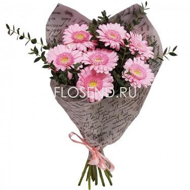 Букет из 7 розовых гербер